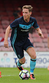 Adam Forshaw of Middlesbrough runs with the ball during the pre season friendly match between York City and Middlesbrough at Bootham Crescent on July...