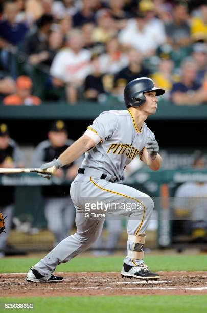 Adam Frazier of the Pittsburgh Pirates bats against the Baltimore Orioles at Oriole Park at Camden Yards on June 6 2017 in Baltimore Maryland