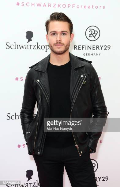 Adam Gallagher attends the Schwarzkopf x Refinery29 event at Bar Babette on June 8 2017 in Berlin Germany
