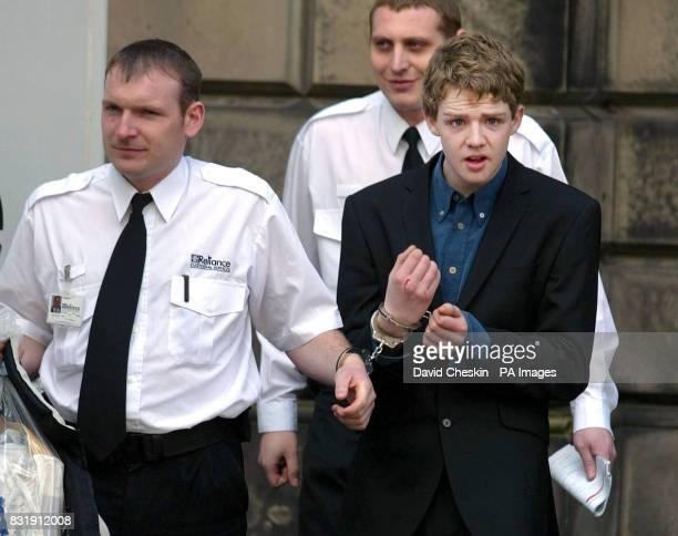 Adam Gallagher outside the High Court in Edinburgh where he was jailed for life today for the murder of 21yearold Marek Smrs