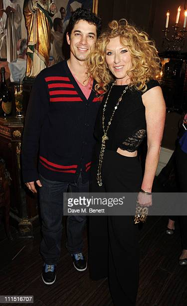 Adam Garcia and Kelly Hoppen attend the book launch party for Kelly Hoppen's new book 'Ideas Creating A Home For The Way You Live' at Beach Blanket...