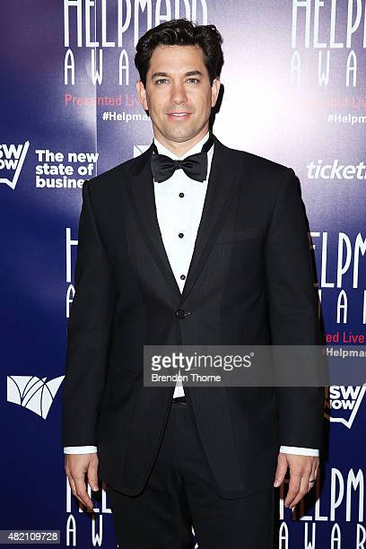 Adam Garcia arrives at the 2015 Helpmann Awards at the Capitol Theatre on July 27 2015 in Sydney Australia