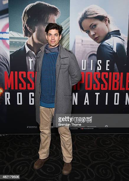 Adam Garcia arrives at the Mission Impossible Rogue Nation screening at Event Cinemas George Street on July 28 2015 in Sydney Australia