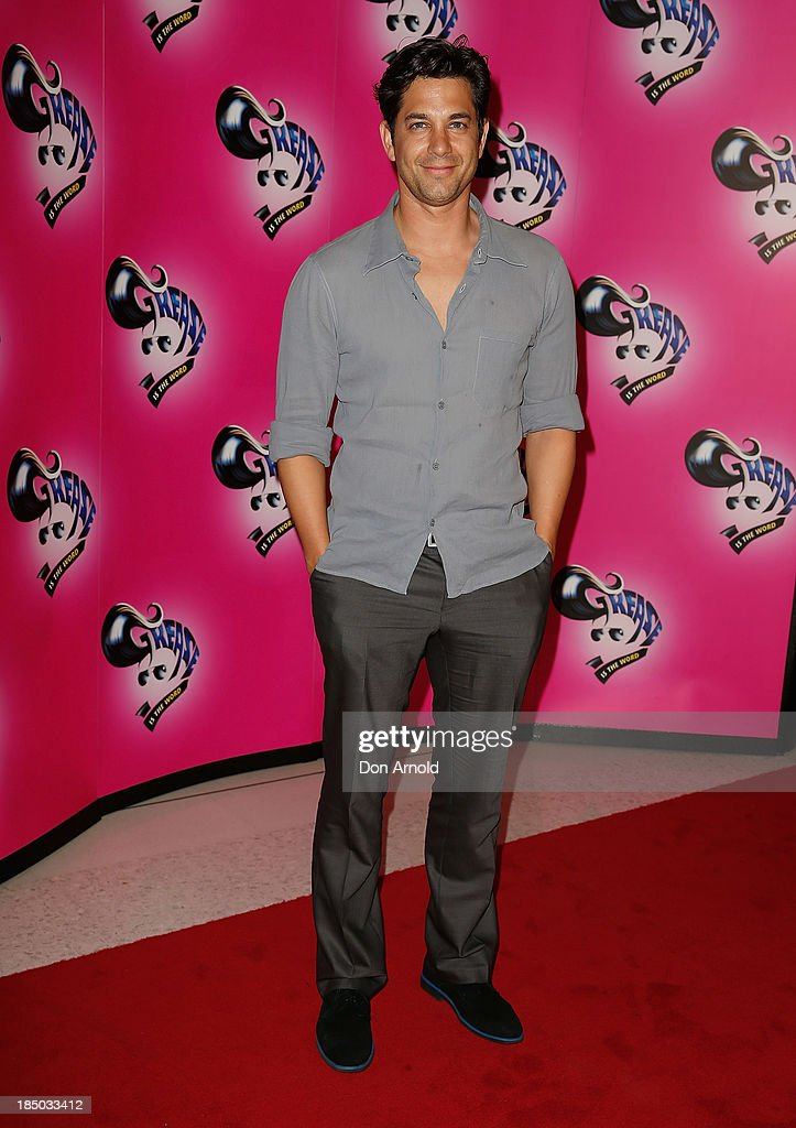 Adam Garcia arrives at the Sydney Premiere of GREASE at The Star on October 17, 2013 in Sydney, Australia.