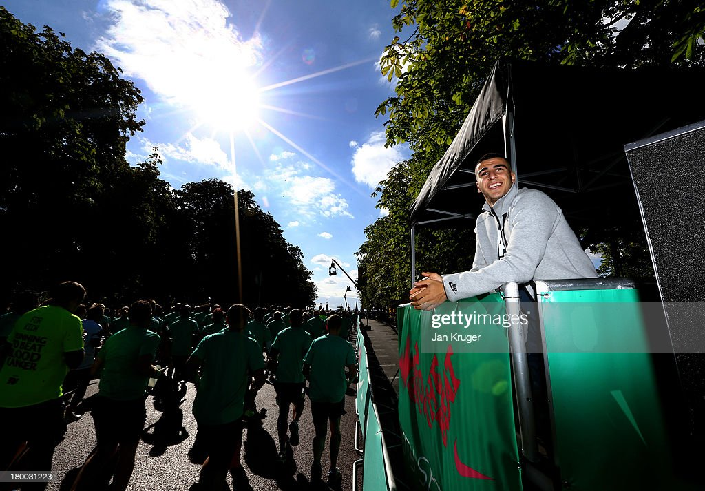 Adam Gemili inspires runners to #justdoit as they gather at the start line for Run to the Beat powered by Nike London's most unique half marathon in...