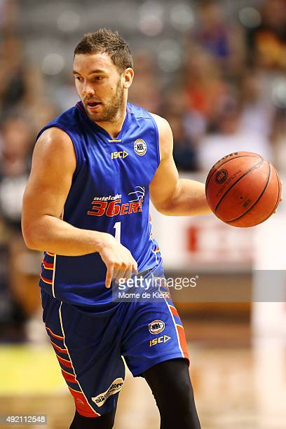 Adam Gibson of the 36ers brings the ball up during the round one NBL match between Adelaide 36ers and the Perth Wildcats at Adelaide Arena on October...