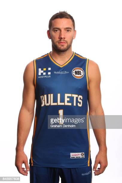 Adam Gibson of the Brisbane Bullets poses during the 2017/18 NBL Media Day at Crown Entertainment Complex on September 11 2017 in Melbourne Australia