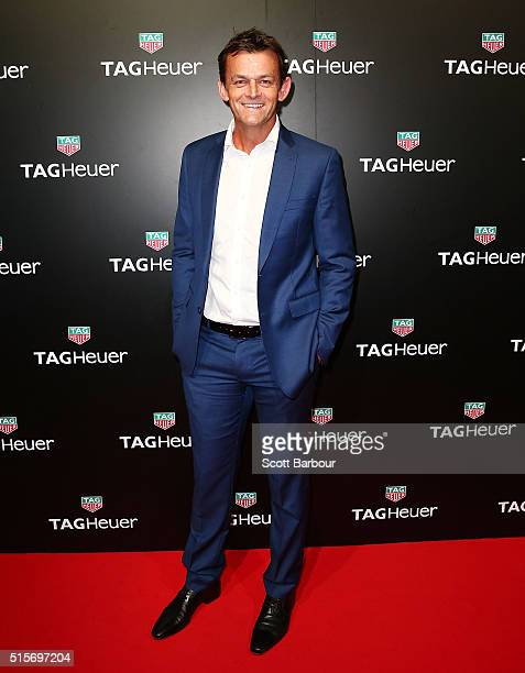Adam Gilchrist attends the TAG Heuer Grand Prix Party at Luminare on March 15 2016 in Melbourne Australia The party was held to celebrate the new...