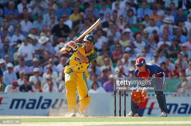 Adam Gilchrist batting for Australia during the 3rd NatWest Challenge One Day International between England and Australia at The Oval London 12th...