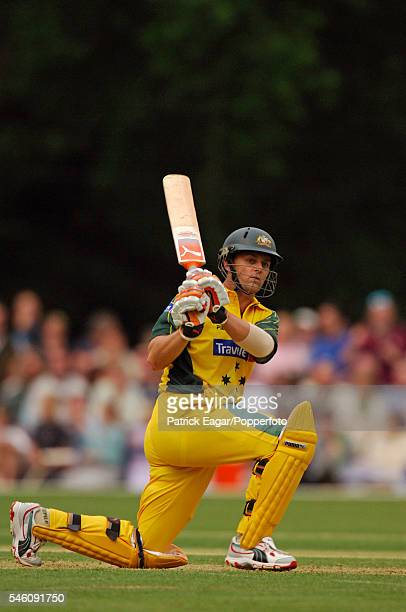 Adam Gilchrist batting for Australia during the tour match between PCA Masters XI and Australians at Arundel England 9th June 2005