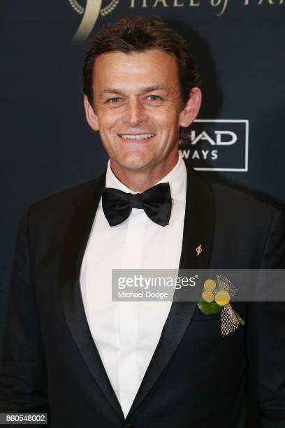 Adam Gilchrist poses at the Sport Australia Hall of Fame Annual Induction and Awards Gala Dinner at Crown Palladium on October 12 2017 in Melbourne...