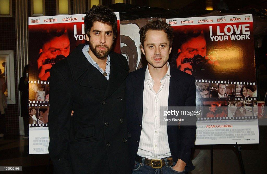 Adam Goldberg, writer/director, and Giovanni Ribisi
