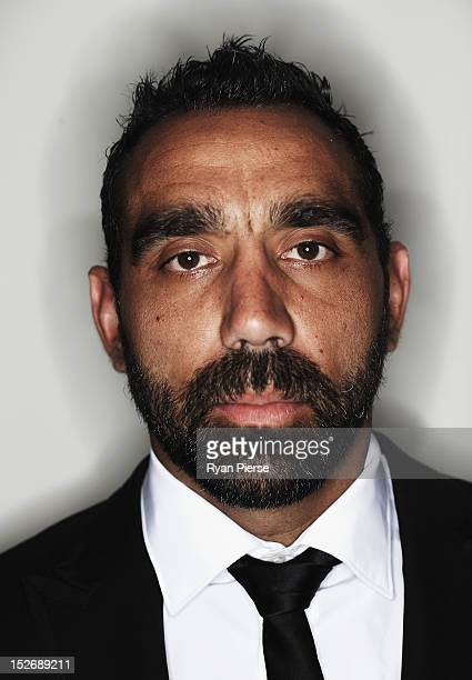 Adam Goodes of the Swans poses during the Sydney Swans AFL Brownlow Medal function at Sydney Cricket Ground on September 24 2012 in Sydney Australia