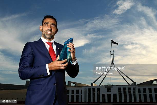 Adam Goodes poses for a portrait after being announced as the 2014 Australian of the Year at Parliament House on January 25 2014 in Canberra...
