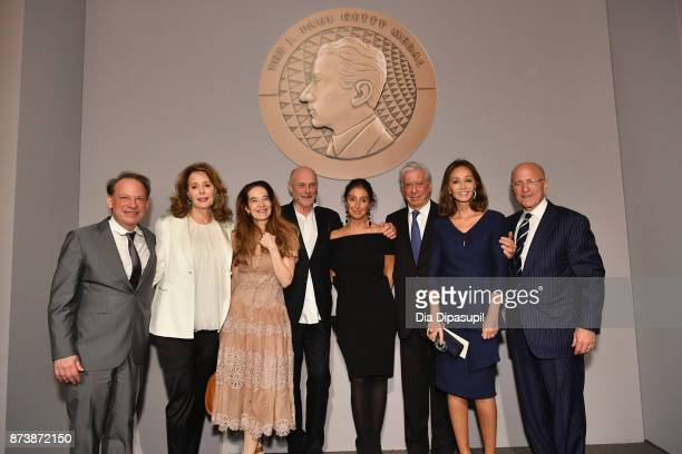 Adam Gopnik Maria HummerTuttle Martha Parker Anselm Kiefer Manuela LucaDazio Mario Vargas Llosa Isabel Preysler and Jim Cuno attend the Getty Medal...