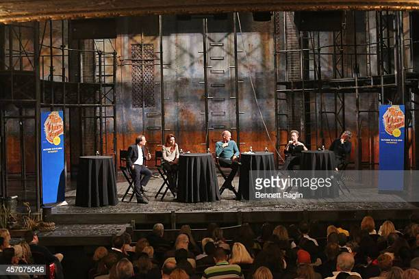 Adam Gopnik Rachel Tucker Sting John Logan and Joe Mantello attend The New Yorker Festival 2014 'The Last Ship' Panel at the Neil Simon Theater on...
