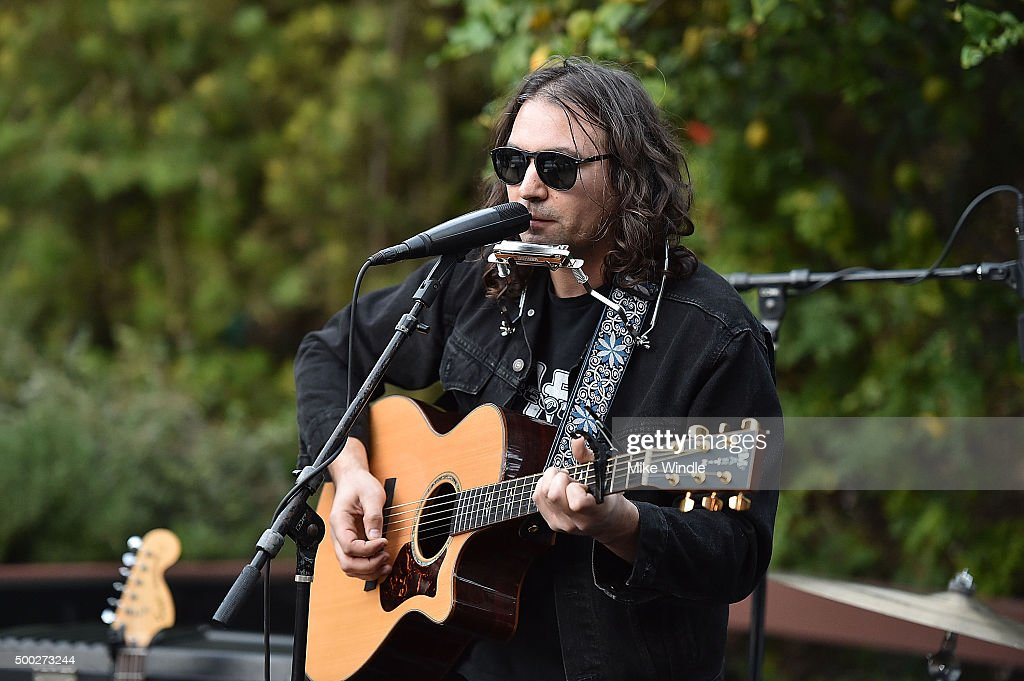 Adam Granduciel of The War On Drugs performs onstage during the MusiCares house concert with Ben Gibbard, St. Vincent and The War On Drugs on December 6, 2015 in Pasadena, California.