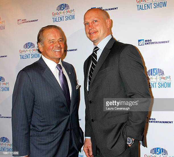 Adam Graves and Rod Gilbert attend the 2013 Garden of Dreams Foundation Talent Show at Radio City Music Hall on April 16 2013 in New York City