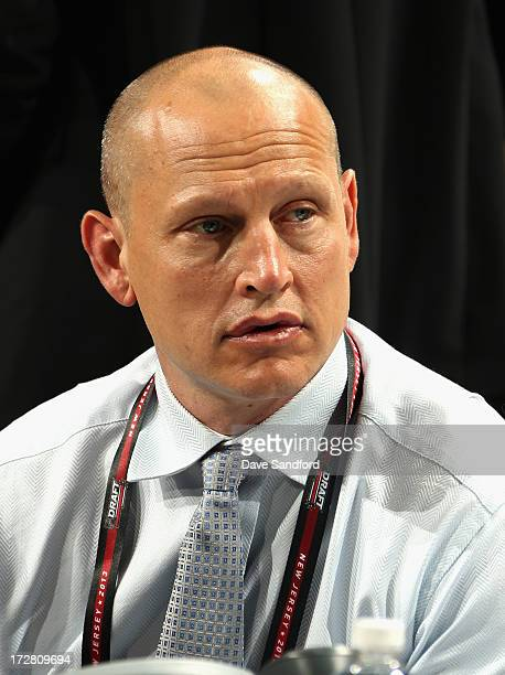 Adam Graves of the New York Rangers attends the 2013 NHL Draft at Prudential Center on June 30 2013 in Newark New Jersey