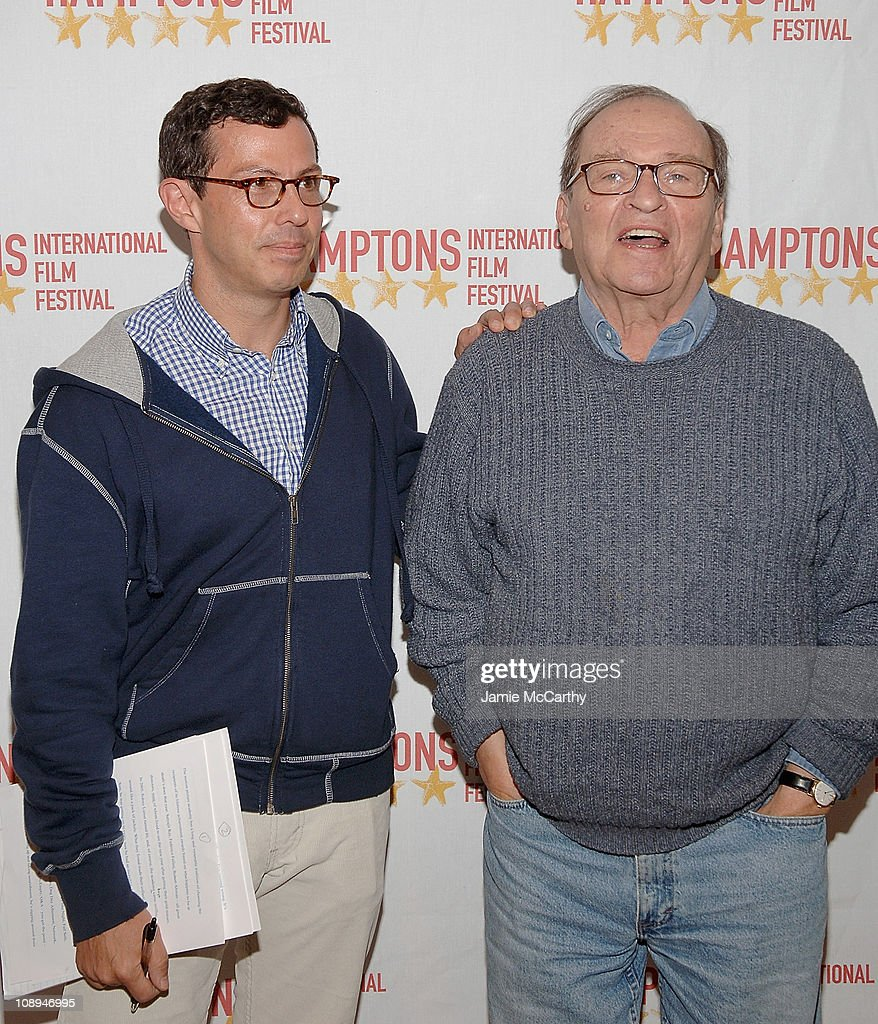 Adam Green and director <a gi-track='captionPersonalityLinkClicked' href=/galleries/search?phrase=Sidney+Lumet&family=editorial&specificpeople=214143 ng-click='$event.stopPropagation()'>Sidney Lumet</a> attend the Hamptons Film Festival - Conversation with <a gi-track='captionPersonalityLinkClicked' href=/galleries/search?phrase=Sidney+Lumet&family=editorial&specificpeople=214143 ng-click='$event.stopPropagation()'>Sidney Lumet</a> interviewed by Adam Green on October 19, 2007 at the Bay Street Theater, New York.