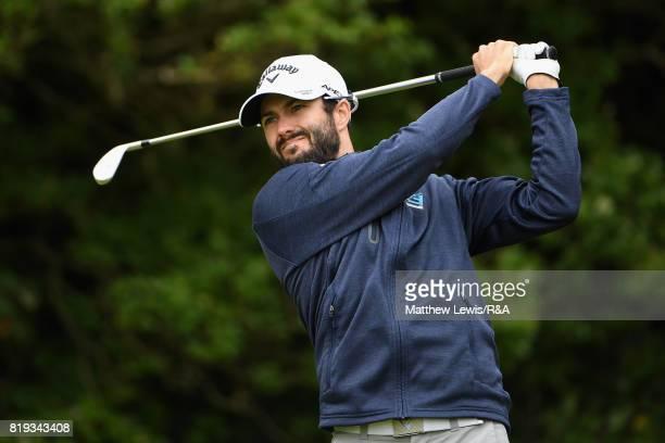 Adam Hadwin of Canada on the fifth hole during the first round of the 146th Open Championship at Royal Birkdale on July 20 2017 in Southport England
