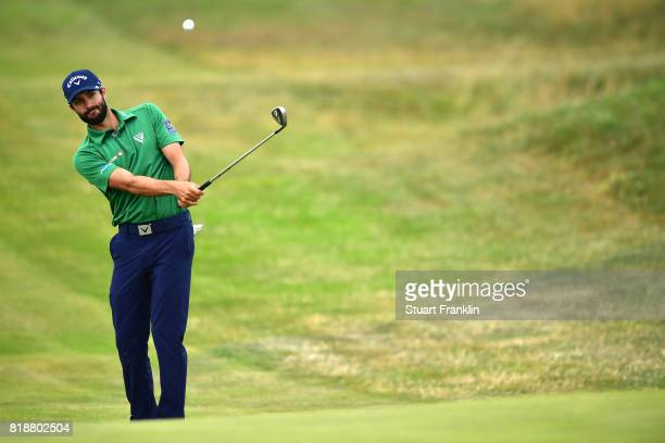Adam Hadwin of Canada plays a practice round prior to the 146th Open Championship at Royal Birkdale on July 19 2017 in Southport England