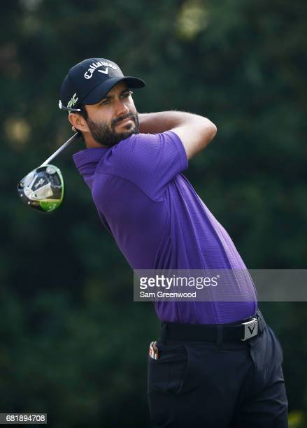 Adam Hadwin of Canada plays his shot from the 11th tee during the first round of THE PLAYERS Championship at the Stadium course at TPC Sawgrass on...