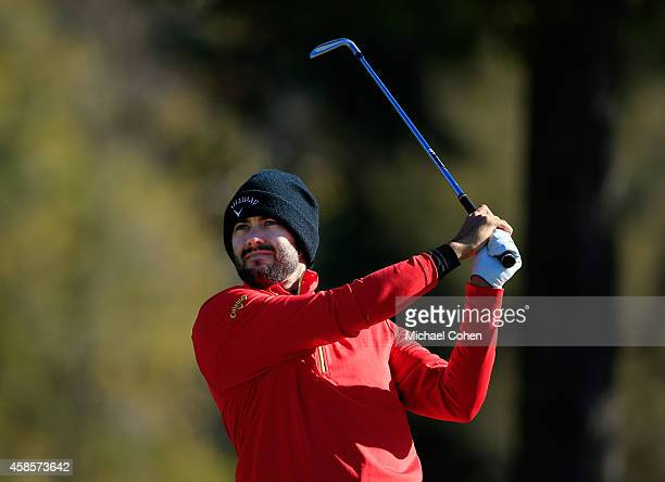Adam Hadwin of Canada tees off on the fourth hole during round two of the Sanderson Farms Championships at The Country Club of Jackson on November 7...