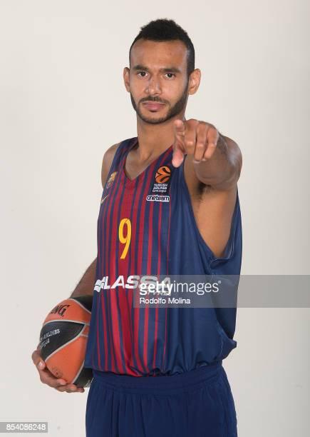 Adam Hanga #9 poses during FC Barcelona Lassa 2017/2018 Turkish Airlines EuroLeague Media Day at Palau Blaugrana on September 25 2017 in Barcelona...