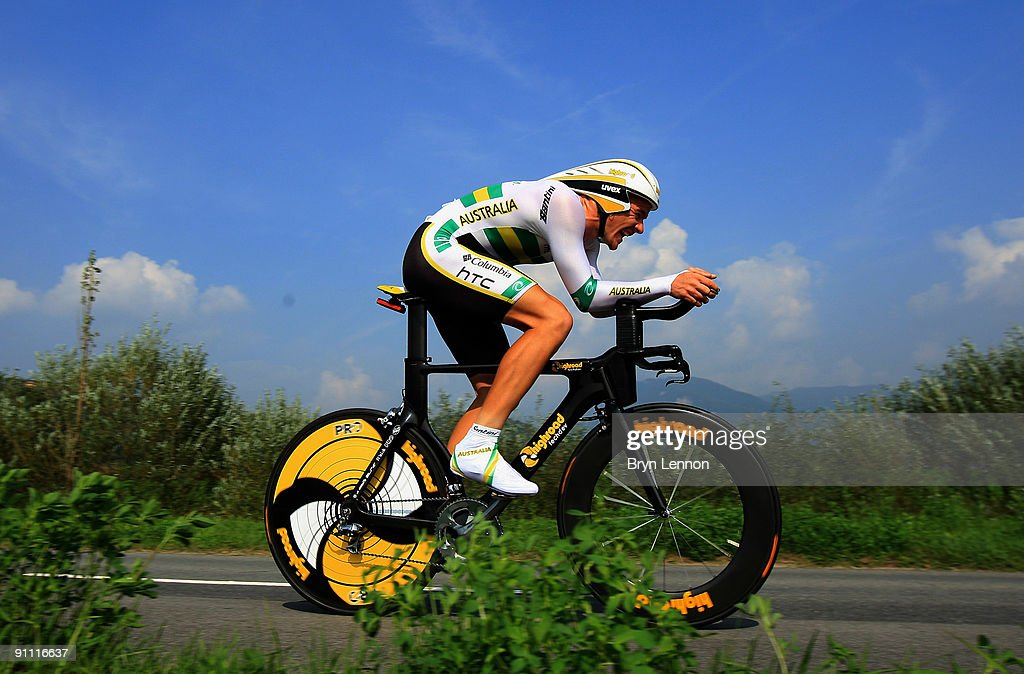 Adam Hansen of Australia in action during the Elite Men's Time Trial at the 2009 UCI Road World Championships on September 24, 2009 in Mendrisio, Switzerland.