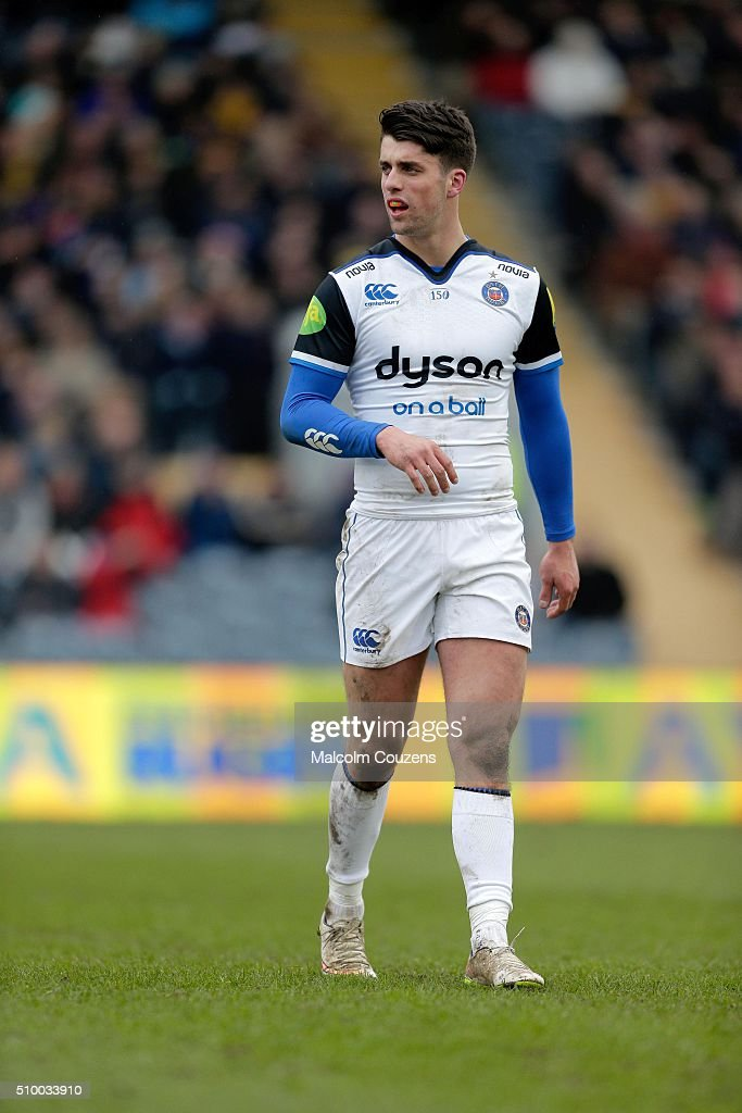 Adam Hastings of Bath Rugby during the Aviva Premiership match between Worcester Warriors and Bath Rugby at Sixways Stadium on February 13,, in Worcester, England