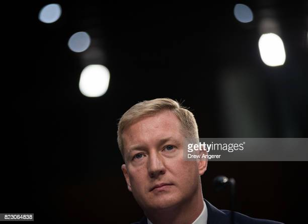 Adam Hickey deputy assistant Attorney General of the National Security division testifies during a Senate Judiciary Committee hearing titled...