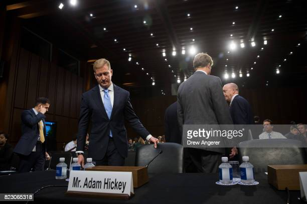Adam Hickey deputy assistant Attorney General of the National Security division arrives to testify during a Senate Judiciary Committee hearing titled...
