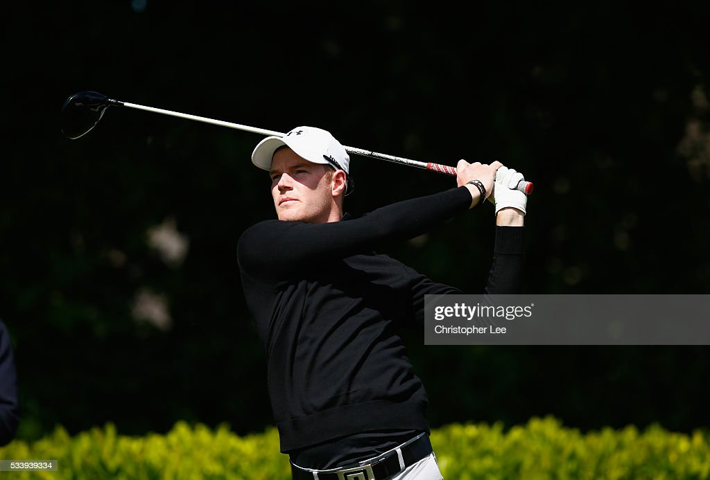 Adam Hickling of Stoneham Golf Club during the Titleist & FootJoy PGA Professional Championship South Qualifier at Woodcote Park Golf Course on May 24, 2016 in Coulsdon, England.