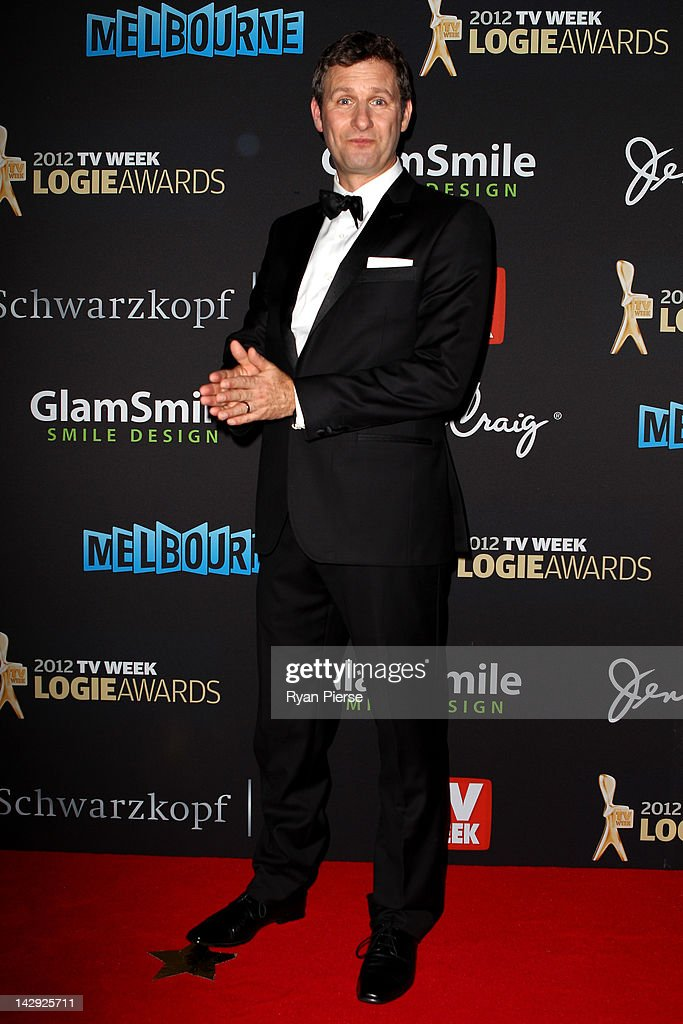 Adam Hills arrives at the 2012 Logie Awards at the Crown Palladium on April 15, 2012 in Melbourne, Australia.