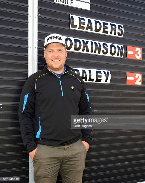 Adam Hodkinson of ChorltonCum Hardy Golf Club poses for photos after winning the PGA Assistants Championship North Qualifier at Hesketh Golf Club on...