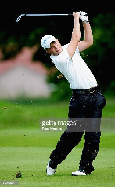Adam Hodkinson of Hallowes during Local Final Qualifying for the 2007 Open Championship at Downfield Golf Club on July 10 2007 in Dundee Scotland