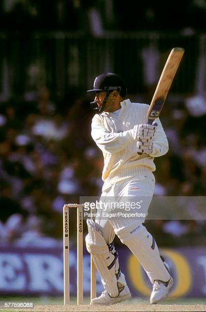Adam Hollioake batting for England during his 53 not out in the 2nd Texaco Trophy One Day International between England and Australia at The Oval...