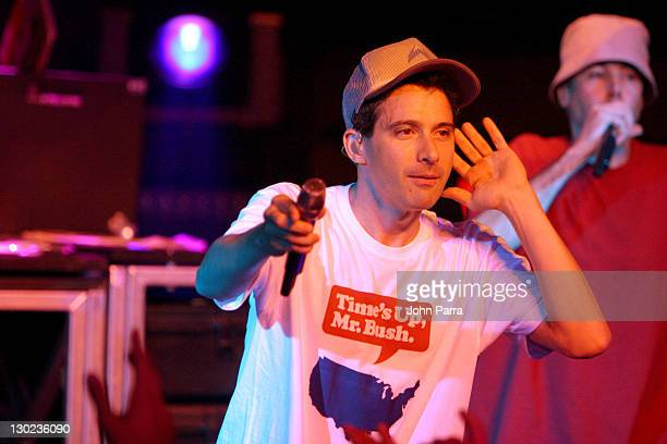 Adam Horovitz and Adam Yauch of the Beastie Boys during MTV2 Presents A LIFEbeat Benefit August 28 2004 at Crowbar in Miami Florida United States