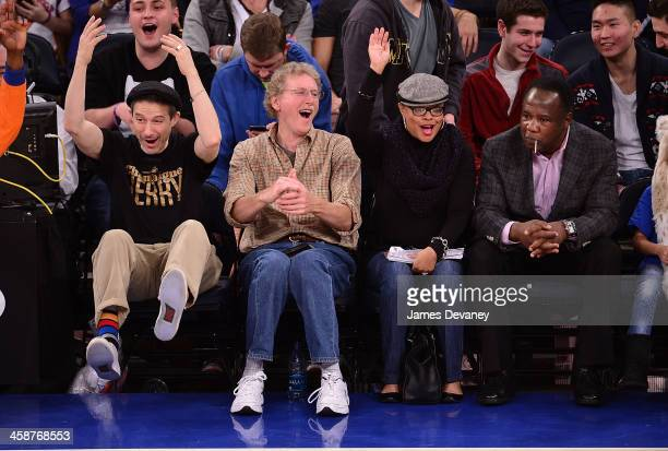 Adam Horovitz and Isiah Whitlock Jr attend the Memphis Grizzlies vs New York Knicks game at Madison Square Garden on December 21 2013 in New York City