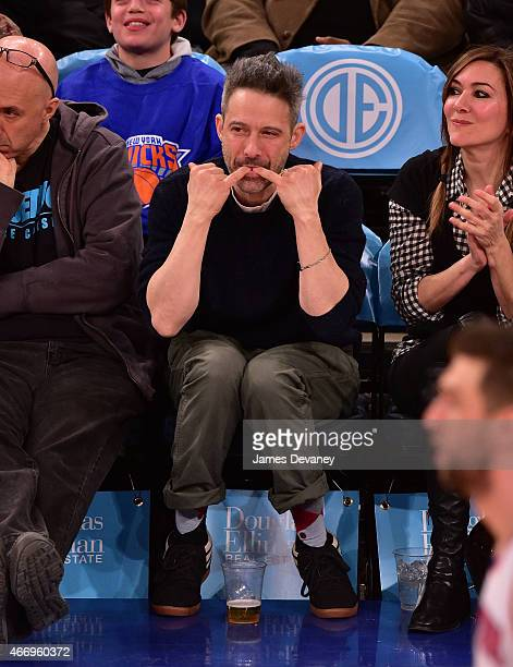 Adam Horovitz attends Minnesota Timberwolves vs New York Knicks game at Madison Square Garden on March 19 2015 in New York City