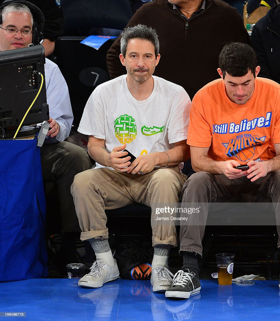 <a gi-track='captionPersonalityLinkClicked' href=/galleries/search?phrase=Adam+Horovitz&family=editorial&specificpeople=204715 ng-click='$event.stopPropagation()'>Adam Horovitz</a> attends the New Orleans Hornets vs New York Knicks game at Madison Square Garden on January 13, 2013 in New York City.