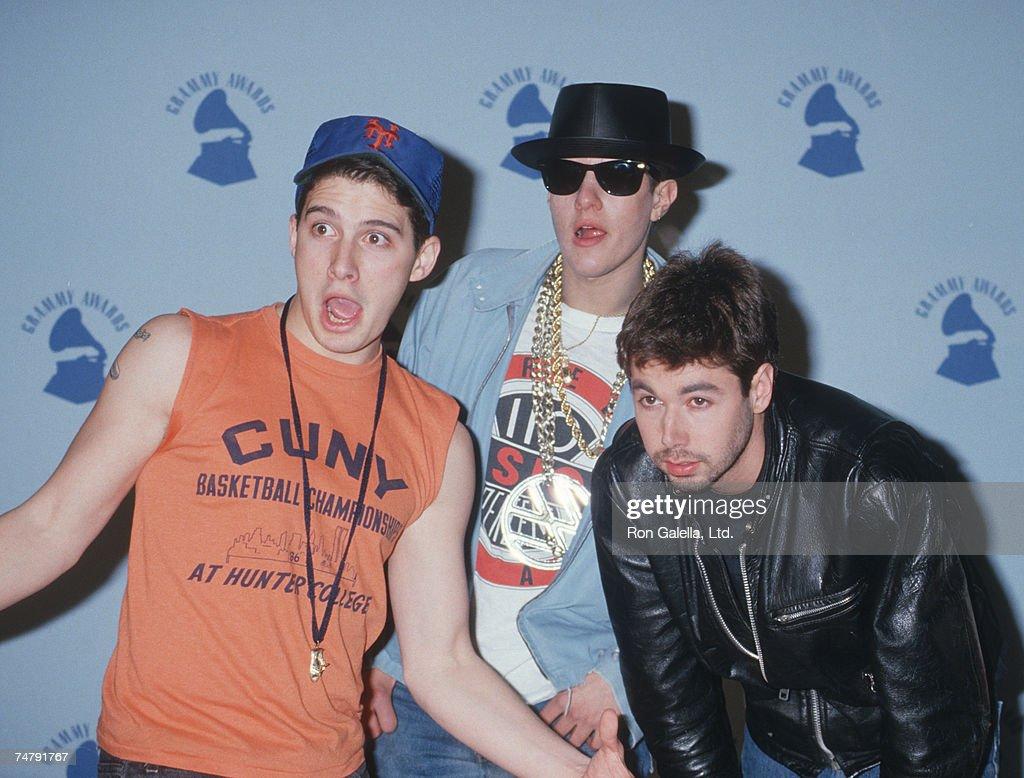 Adam Horovitz Mike Diamond and Adam Yauch of the Beastie Boys at the Shrine Auditorium in Los Angeles California