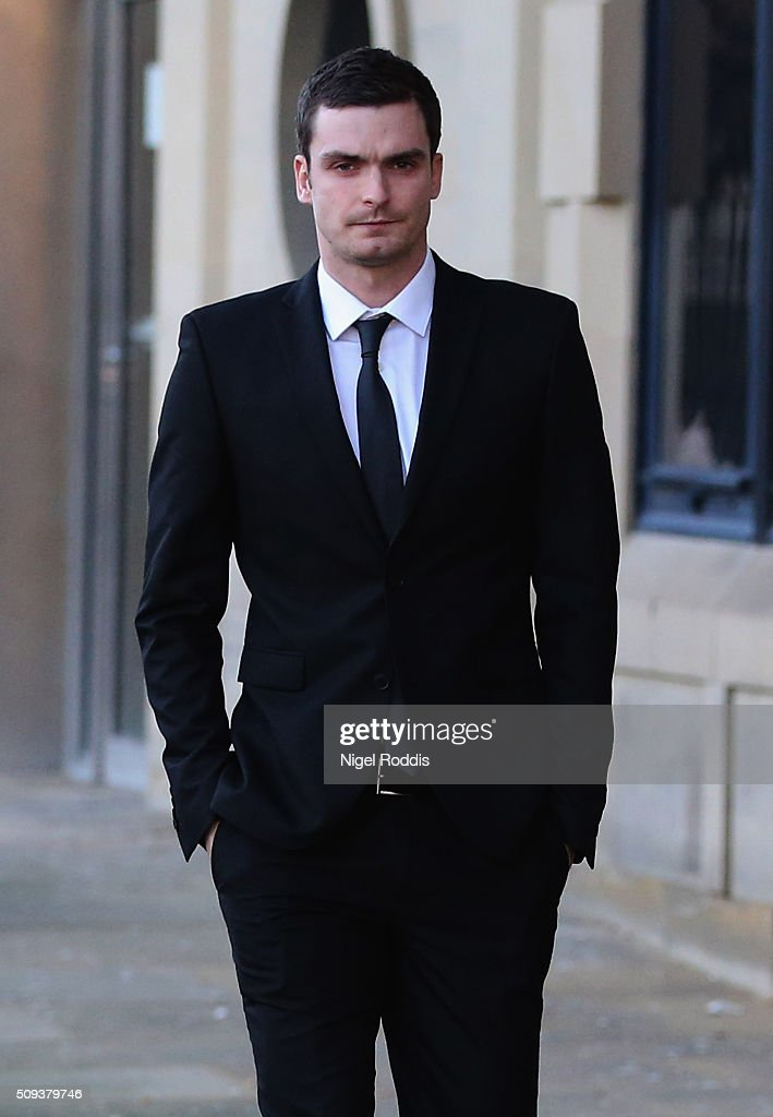 <a gi-track='captionPersonalityLinkClicked' href=/galleries/search?phrase=Adam+Johnson+-+Soccer+Player&family=editorial&specificpeople=6720094 ng-click='$event.stopPropagation()'>Adam Johnson</a> leaving Crown Court after admitting two charges against him and pleading not guilty to two others on February 10, 2016 in Bradford, England. The Sunderland FC midfielder, aged 28 and from Castle Eden, County Durham, will go on trial for two counts of sexual activity having pleaded guilty to two others. He has one daughter.