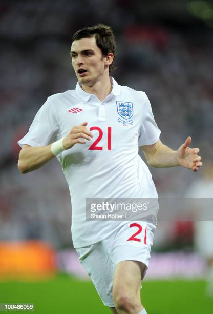 Adam Johnson of England in action during the International Friendly match between England and Mexico at Wembley Stadium on May 24 2010 in London...