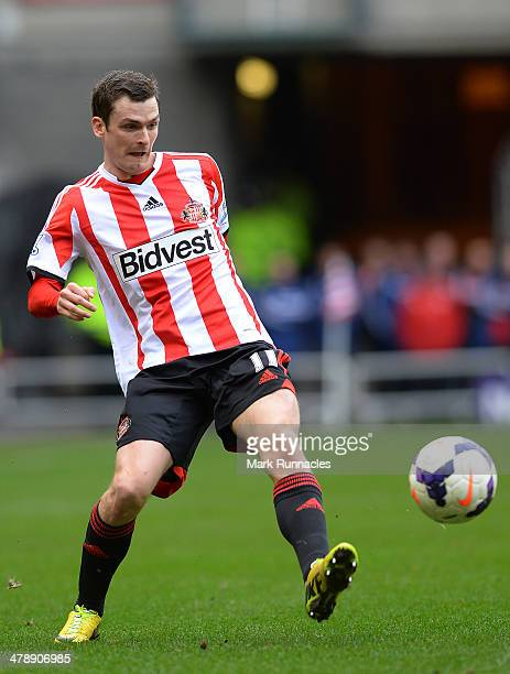 Adam Johnson of Sunderland in action during the Barclays English Premier League match between Sunderland and Crystal Palace at the Stadium of Light...