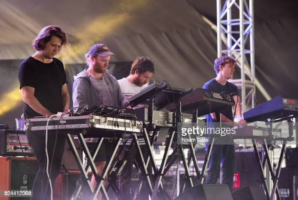 Adam Jones Michael Stein Kyle Dixon and Mark Donica of 'S U R V I V E' perform at the 2017 Panorama Music Festival at Randall's Island on July 29...
