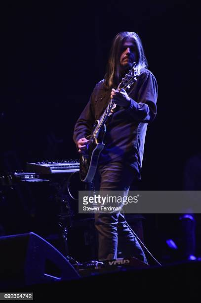 Adam Jones of Tool performs onstage during the 2017 Governors Ball Music Festival Day 3 at Randall's Island on June 4 2017 in New York City
