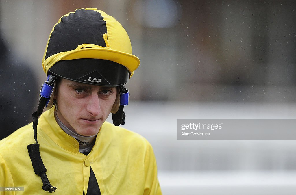 <a gi-track='captionPersonalityLinkClicked' href=/galleries/search?phrase=Adam+Kirby&family=editorial&specificpeople=241329 ng-click='$event.stopPropagation()'>Adam Kirby</a> poses at Lingfield racecourse on December 20, 2012 in Lingfield, England.