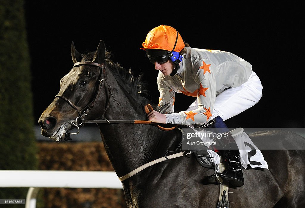 <a gi-track='captionPersonalityLinkClicked' href=/galleries/search?phrase=Adam+Kirby&family=editorial&specificpeople=241329 ng-click='$event.stopPropagation()'>Adam Kirby</a> riding Thecornishcockney wins The BetVictor Exclusive Non Runner Free Bet Handicap Stakes at Kempton racecourse on February 14, 2013 in Sunbury, England.